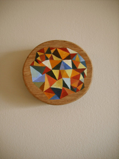 "Annica Damico Your Triangle Heart, oil paint on wood. 5.5""x6"""
