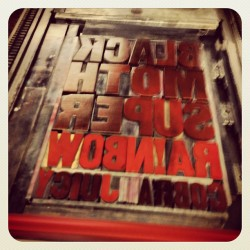 #letterpress #woodtype #bmsr #blackmothsuperrainbow
