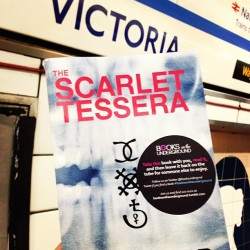 Taking a trip on the Victoria Line today? You may find The Scarlet Tessera by Julian Lorr #booksontheunderground