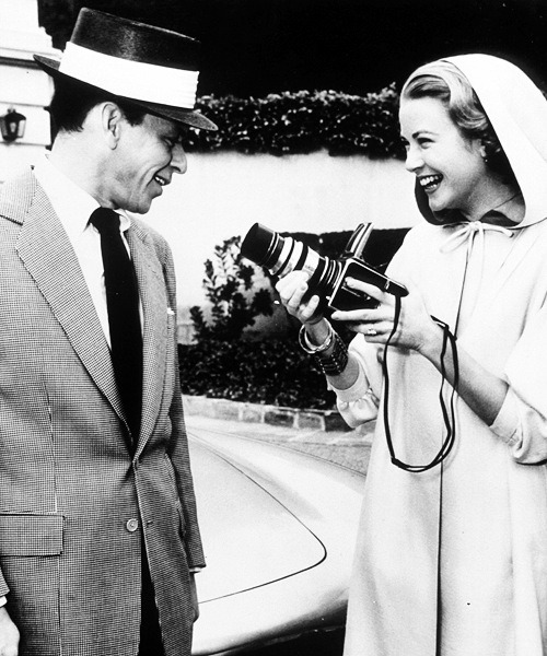 kelseygaude:  Grace Kelly and Frank Sinatra.