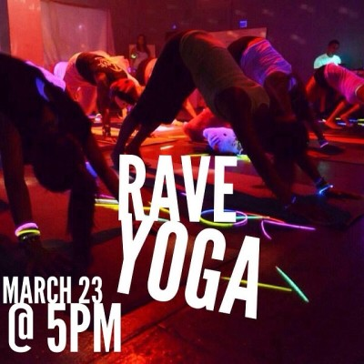 RAVE YOGA CLASS! HOSTED MY @om8soul 🎉🎉🎉🎉🎉🎉🎉 MARCH 23 @ 5PM With DJ @nickq_official !! At @all_around_fitness_training ! DON&rsqu
