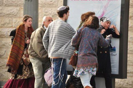 "Girls beat Palestinian woman in Jerusalem rail stationTUESDAY, 26 FEBRUARY 2013 14:29 A group of Israeli girls beat a Palestinian woman Monday afternoon at a light rail station in Jerusalem.The Israeli news source nrg.co.il reports that the light rail security guard, as well as some 100 religious Israeli men, stood by and did nothing as the woman was beaten at the Kiryat Moshe rail station in Jerusalem. The attackers also managed to pull her headscarf off. Eyewitness Dorit Yarden Dotan, who was horrified by the violence and took photos of the beating with her telephone, reports that the security guard even ""watched and smiled"". ""It was simply terrible,"" she added.Hours later, a demonstration took place in downtown Jerusalem to mark six months since the savage lynch of 20 year old Hassan Usruf in the area. To date none of the some 20 Israeli youths who beat him have been punished. Eyewitnesses report that the light rail security guard watched with a smile as the Palestinian woman was beaten (Photo: Dorit Yarden Dotan, nrg.co.il)"