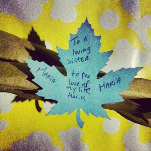My sister got me a leaf:)
