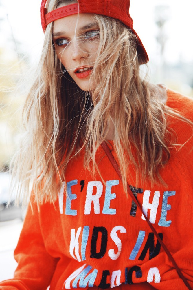 wildfox:  Leila Goldkuhl shot by Wildfox designer, Kimberley Gordon, in Wildfox spring collection for Lonelydot.com