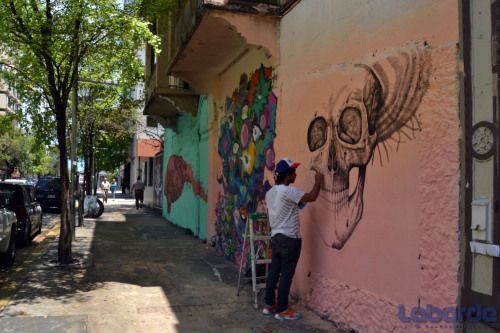 laborde:  One of the many artists that paint the district of Santurce in San Juan, Puerto Rico