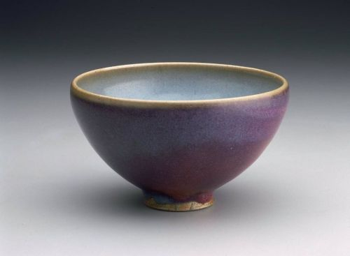 aleyma:  Jun ware bowl, made in China in the 12th century (source).