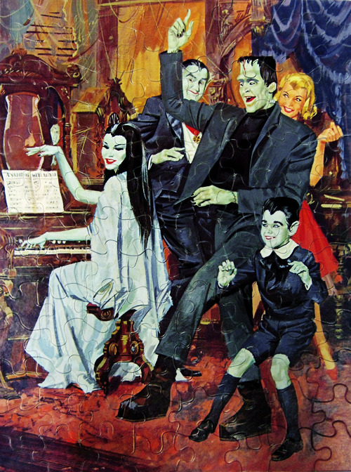 vintagegal:  The Munsters 1965 puzzle