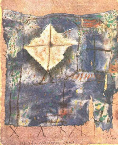german-expressionists:  Paul Klee, Ravaged Land, 1921