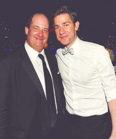 "jkrasweb:  ""For several years, John Krasinski and I spent every single lunchtime in his trailer eating lunch, playing John Madden football like boys in college. I will miss that."" - Brian Baumgartner"