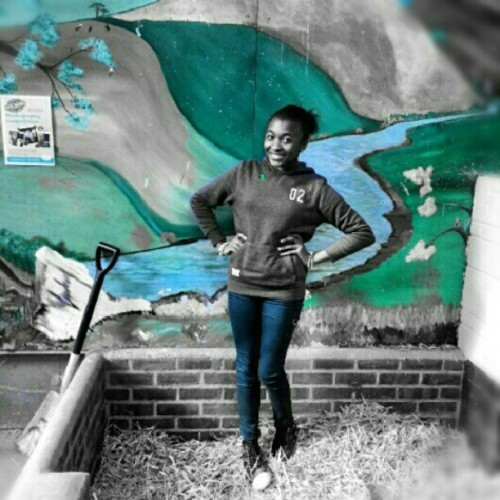 At the #rarebreedacentre #Ashford #kid'sbarn #shovel…. lol #greenandblue - By @grithkjeldsengmailcomgrithkjel