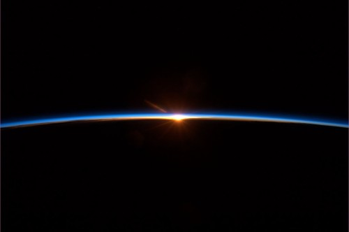 "david:  ""Spaceflight finale: To some this may look like a sunset. But it's a new dawn."" – Col. Chris Hadfield"