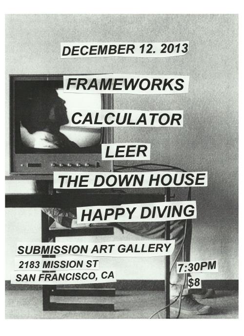 SF Music Collective Presents:Frameworks (Gainsville, FL)https://www.facebook.com/frameworksbandhttp://frameworks.bandcamp.com/Calculatorhttps://www.facebook.com/calculatordiyhttp://c
