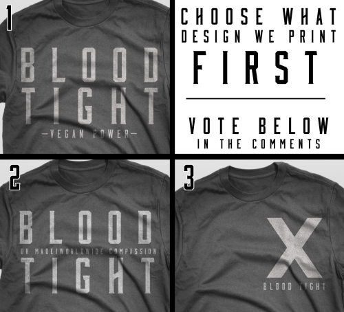 icookvegan:  www.facebook.com/bloodtightapparel  Hey guys, check out this up and coming vegan company! They're currently fishing for ideas for products WE want. Some great suggestions were steel-toed boots/work grade shoes.