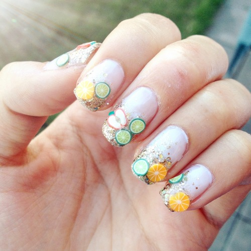 NOTW - Fimo Fruit Nails!