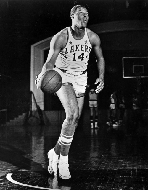 arhenetwork:  April 22, 1958 …and with the first pick of the 1958 NBA Draft, the Minneapolis Lakers select, Elgin Baylor, of Seattle University. Baylor would go on to average 25 points, 15 rebounds and 4 assists in his rookie season.