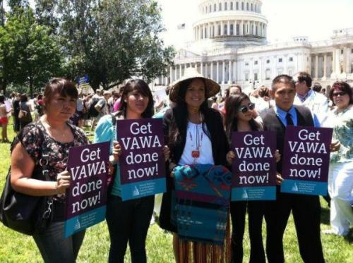 A Proud Day for Tribal Advocates of the Violence Against Women Act The Violence Against Women Act (VAWA) reauthorization passed the U.S. House on February 28 by a vote of 286 to 138. In a major victory for Indian country, it mirrored the already passed U.S. Senate provisions that allow tribal courts to prosecute non-Indians who commit violence against women and families on Indian lands.