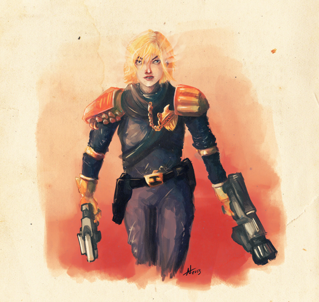 Judge Anderson in hope to win books from 2000ad.