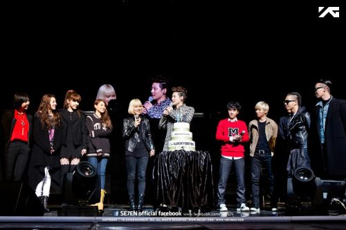 "[PHOTO] 130309 YG Family Official Photo @ SE7EN's 10th Anniversary Talk Concert ""THANK U"" Source: SE7EN's Official Facebook PageRe-uploaded by: EROMAKNAE"