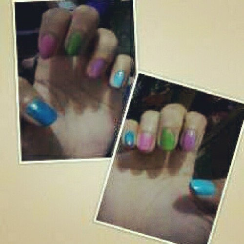 Love my nails! #Colorful #collage #instapic #instacool #fun
