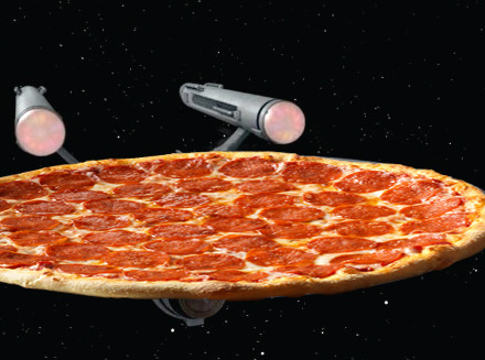 To boldly go where no pizza has gone before.