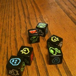 Martian Dice - Song Gong 26, Grey 20, Mark 20, Chris 8