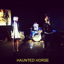 Our bands first show on national television. @xhoney_bunnyx @odddc #hauntedhorse (at David Letterman Show)
