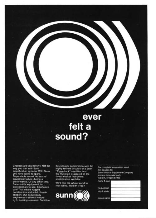 blackgoldofthesun:  sunn o))) Advert, Crawdaddy Magazine, January 1968