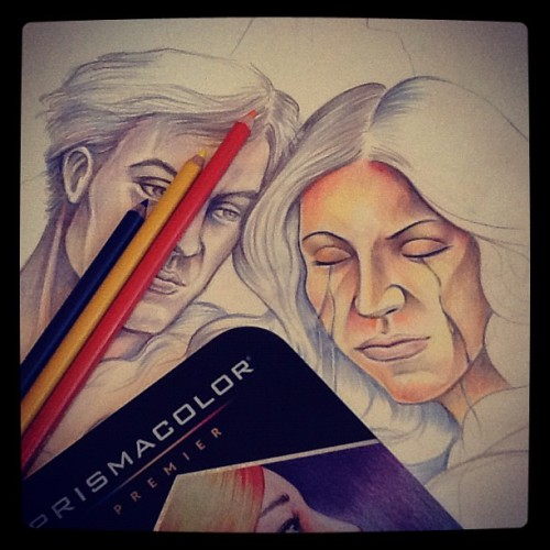 Trying on #prismacolor #coloredpencils that has been kept for almost a year, and trying to finish up a long pending sketch #moleskine #sketchbook #illustration #sketch #art #artwork
