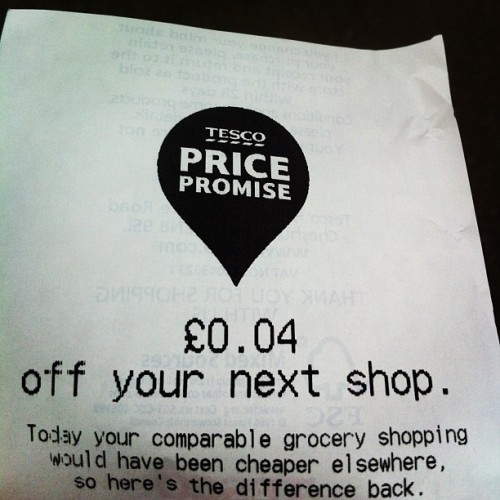 Omg Tesco wanted to nick 4p from me!! 😿