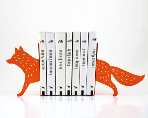 etsy:  Fox Bookends by DesignAtelierArticle.  Cute.