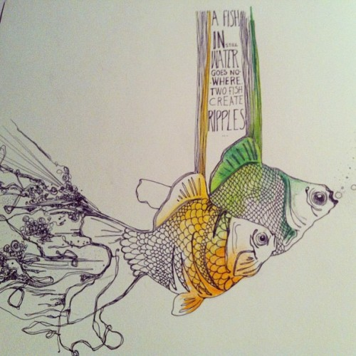 More fish! #fish  #drawing  #myriamwiesenfeld  #art