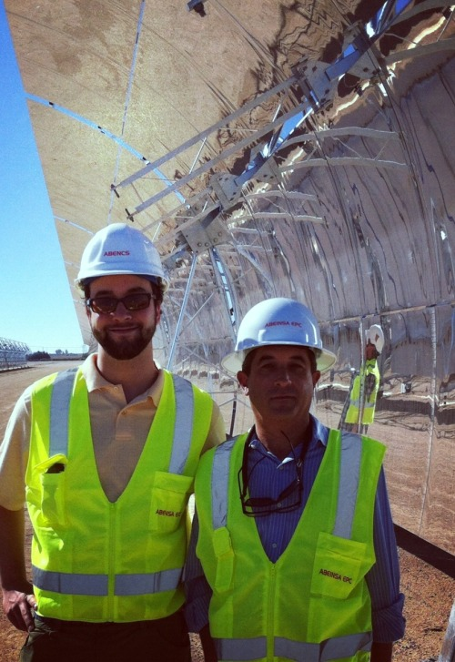 Inspecting mirror field construction status at Mojave Solar Project!
