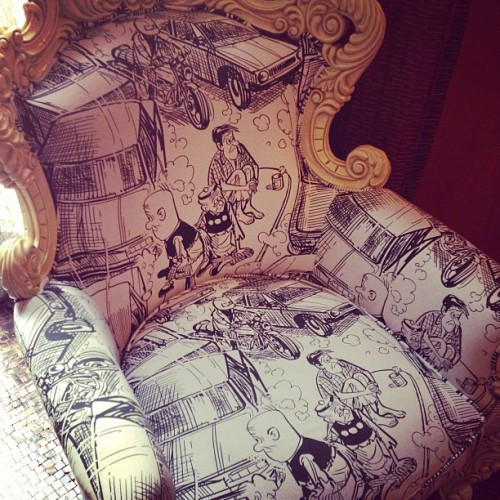 #LaoHuChi chair at the #luxemanor #hk . Brings back childhood memories! (at The Luxe Manor 帝樂文娜公館)