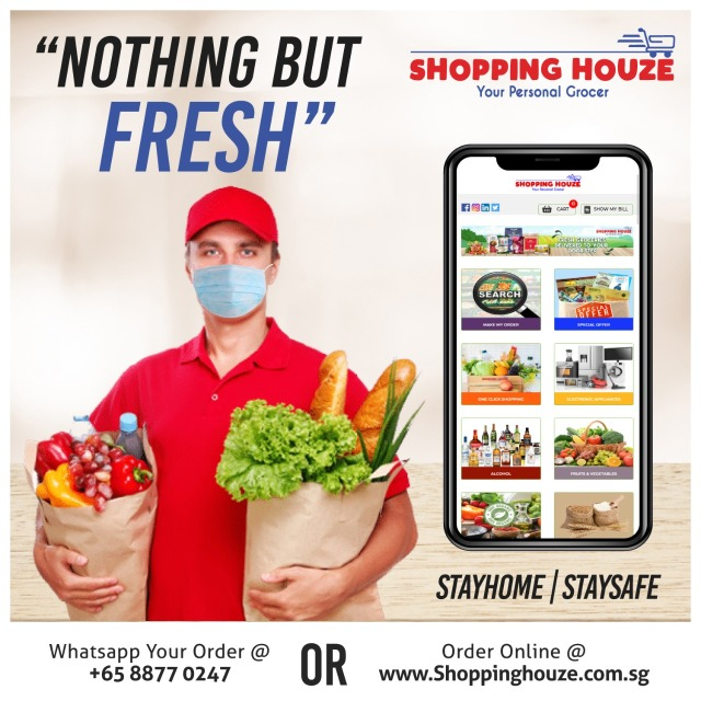*As fresh as Shopping Houze Products*Delivery only on Monday, Wednesday, and Friday.*No Delivery on Public Holidays and Sundays *FREE DELIVERY FOR ORDERS $35 AND ABOVE...*SHOP NOW, PAY LATER AT: www.shoppinghouze.com.sg*CALL/WHATSAPP: 88770247 #freshfruits freshfood freshwater groceryshopping grocery grocerystore #shoppinghouze
