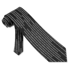 Ties Suck in Binary Code black microfiber Tie by Mr. G33k