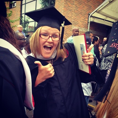 livelifespeakout:  Guess who graduated from college today! :) #grads #graduation #caldwell #awesome #happy #  Congratulations to the graduating seniors! We're all proud of you :)