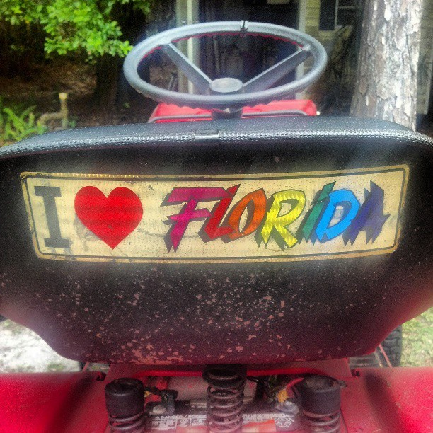 Dad's cuttin' grass. #lawnmower #Florida