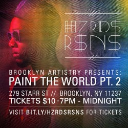 Catch us tonight at Paint The World pt 2! We hit the stage at 9:30! #nyc #performance #hiphop #electronic #brooklyn #live #paint #igersofnyc