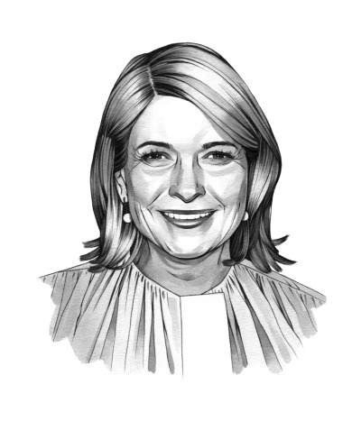 Portrait of Martha Stewart (for Travel + Leisure Magazine), sumi ink & pen. AD John A Sheppard
