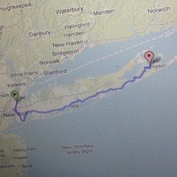 Using @sixcycle to re-route the 170 mile ride from NYC to East Hampton (keeping the 45 mile race in Brooklyn).