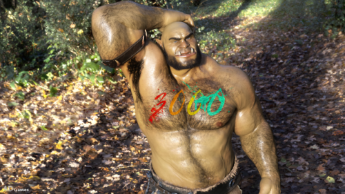 Ohhh my… My head is spinning!  3000 Followers on my Twitter… Incredible !!!  You are all AMAZING ! Thank you for your support ! #3d#ad games#orc#gorzak#3000#twitter#hairy#muscles#sfw#cloth#forest#thank you