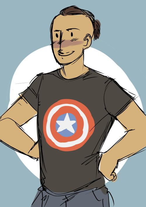 antichristmanatee:  i just want modernAU!connor to be captain america fan ;n;