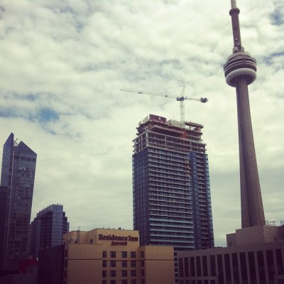 View from the SOHO a couple weeks ago. #loveit #tdot #rooftop