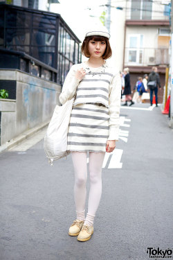 tokyo-fashion:  Yukinnko in Harajuku w/ items from Barrack Room & The Virgin Mary.