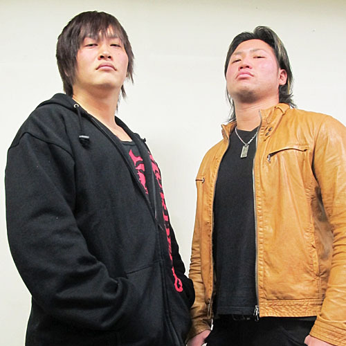 "[DIAMOND RING/VooDoo MURDERS/NOAH News] Katsuhiko Nakajima announced that he will be bringing in Yutaka Yoshie to team up with him and Kajiwara to take on the VooDoo MURDERS on March 17.Since size and height is a factor in the up coming match, Nakajima has taken it upon himself to find someone who can back up their height with the large size and that man is Yoshie. All 3 members of the VooDoo MURDERS they are facing are all over 180cm (Kento 186cm/97kg, Taishi 190cm/95kg & TARU 185cm/100kg) which completely beats the 175cm/97kg of Nakajima and the 170cm/83kg of Kajiwara. So the 180cm/150kg frame of Yutaka Yoshie is what Katsukaji (Katsuhiko & Kajiwara) are hoping will be bring the extra power that they need.The whole event card for the 3.17 show has been announced which you can see below.DIAMOND RING, 3/17/2013 [Sun] 13:00 @  Tatebayashi City Citizens Gymnasium in Gunma (Gohara Gymnasium)(1) Opening Tag Match: ~Participants~ Namazu Man, Kikutato [Akiba], CHANGO [Free] & KAMIKAZE [ZERO1]~ Teams to be decided the day off event.(2) Mitsuhiro Kitamiya vs. Kengo [VooDoo MURDERS](3) Tatsuhito Takaiwa [Free] & Ryuji Hijikata [Free] vs. Kenichiro Arai [DG] & K-ness. [DG](4) Semi-final Match: Kensuke Sasaki vs. NOSAWA Rongai(5) Main Event 6 Man Tag Match: Katsuhiko Nakajima, Satoshi Kajiwara & Yutaka Yoshie [Free] vs. ""VooDoo MURDERS"" Kento Miyahara, Taishi Takizawa & TARUAlso in a separate interview it seems that Miyahara & Takizawa have mentioned their intentions of going after the GHC Heavy Tag Team belts. Both men will make their first appearances as a team in NOAH on 3.10, and it seems they aim to make a statement when they face the Bravado Brothers.With NOAH's Global Tag League tournament coming up in April one could easily speculate that they will be one of the participating teams.NOAH ""GREAT VOYAGE 2013 in YOKOHAMA"", 3/10/2013 [Sun] 16:00 @ Yokohama Cultural Gymnasium(1) NOAH vs DIAMOND RING: Hitoshi Kumano vs. Mitsuhiro Kitamiya(2) VooDoo MURDERS vs. Bravado Bros.: Kento Miyahara & Taishi Takizawa vs. Harlem & Lance Bravado(3) Akitoshi Saito [Free] & Masao Inoue [Free] vs. Kensuke Sasaki & Katsuhiko Nakajima [both DIAMOND RING](4) BRAVE vs TMDK 6 Man Tag Match: Takeshi Morishima, Mohammed Yon & Yoshinari Ogawa vs. Mikey Nicholls, Shane Haste & Jonah Rock(5) GHC Junior Heavyweight Tag Championship Match: [16th Champions] ""Los Mexitosos"" Super Crazy & Ricky Marvin vs. [Challengers] ""NO MERCY"" Genba Hirayanagi & Maybach Tanguchi Jr.~ 5th Title Defense.(6) GHC Junior Heavyweight Championship Match: [26th Champion] Taiji Ishimori vs. [Challenger] Atsushi Kotoge~ 1st Defense.(7) GHC Tag Championship Match: [27th Champions] Naomichi Marufuji & Takashi Sugiura vs. [Challengers] ""CHAOS"" Toru Yano & Takashi Iizuka [NJPW]~ 2nd Defense.(8) GHC Heavyweight Championship Match: [19th Champion] KENTA vs. [Challenger] Maybach Taniguchi~ 1st Defense.http://www.puroresuspirit.com/2013/02/25/noah-event-cards-for-march-april-2013/[Pictured: Taishi Takizawa and Kento Miyahara]"