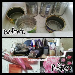 DIY Makeup Organzier