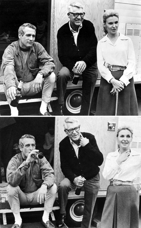 voxsart:  1968. Paul Newman, Cary Grant, and Joanne Woodward.