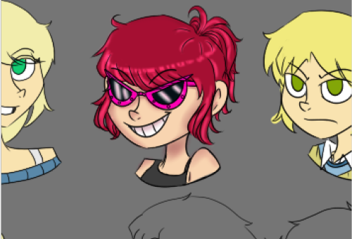 'nother WIP of that cast page I was workin' on hey look I'm getting better at the whole coloring and shading thing yaaay \o/ okay g'night