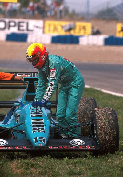 game over …Mauricio Gugelmin, Leyton House March-Judd 881, 1988 Spanish Grand Prix, Jerez de la Frontera