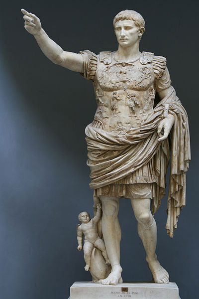 peashooter85:  Statue of Augustus Prima Porta, Discovered in 1863 near Livia, what was once the Roman suburb of Prima Porta, this statue is a depiction of Augustus (Octavian), the first Roman Emperor and founder of the Roman Empire.  Currently the statue is on display at the Vatican Museum.